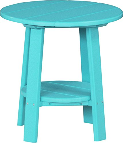 (Furniture Barn USA Outdoor Deluxe End Table - Aruba Blue Poly Lumber - Recycled Plastic)