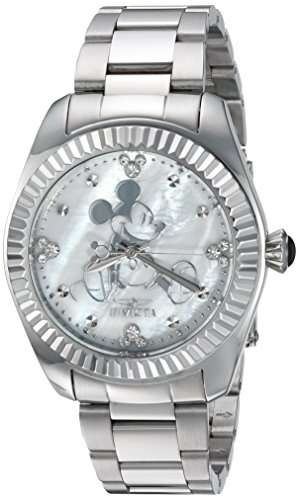 Invicta Women's Quartz Stainless Steel Casual Watch, Color:Silver-Toned (Model: 24914)