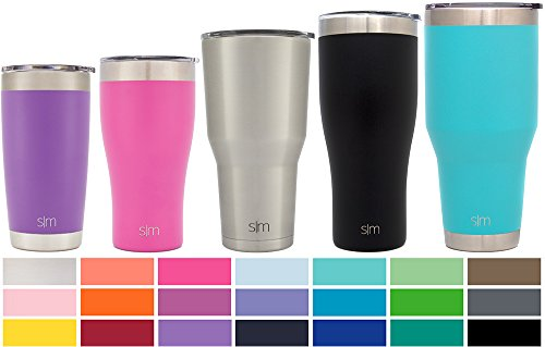 Simple Modern Tumbler Vacuum Insulated 30oz Cruiser with Lid - Double Walled Stainless Steel Travel Mug - Sweat Free Coffee Cup - Simple Stainless