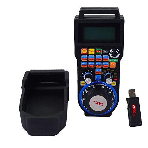 ECO-WORTHY 4 Axis USB Mach3 Wireless Handwheel Controller Remote MPG Pendant Controller for CNC Machine lathe (WHB04B-4)