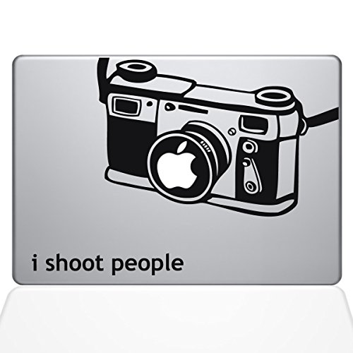 The Decal Guru I Shoot People Camera Decal Vinyl Sticker, 15