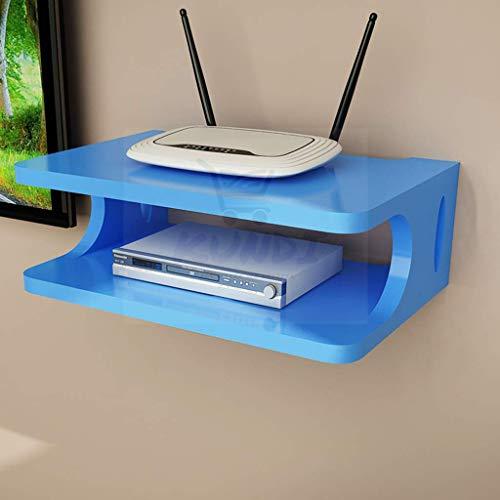 Kundi Remote Control Holder Wooden Storage Box Holder TV Set top Decorative Wall Shelves Rack  Blue