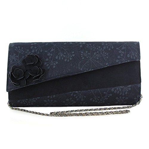 LADIES RUBY SHOO OXFORD BLACK CLUTCH OR SHOULDER VEGAN FRIENDLY HANDBAG