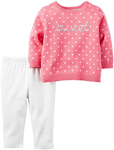 Carter's Baby Girls 2 Pc Sets, Pink, 18 Months