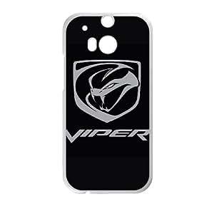 L5L86 I8M0LP Viper funda HTC Uno de teléfono celular M8 caso funda Cubierta BA4VTM2UY blanco