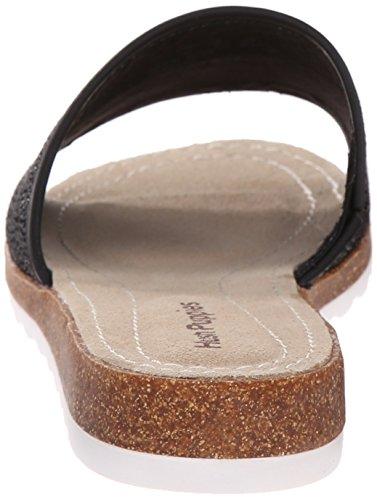Hush Puppies Women's Panton Jade Flat Sandal, Black Novelty Leather, 6 M US
