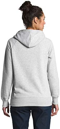 The North Face Women's Half Dome Pullover Hoodie, TNF Light Grey Heather/TNF Black, XS