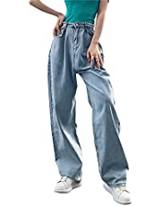Yishengp Vrouwen Hoge Taille Baggy Jeans Y2K Casual Losse Cargo Broek Vintage Boyfriend Juniors Mom Fit Jeans Broek