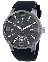 Joshua & Sons Men's JS64BK Analog Display Swiss Quartz Black Watch
