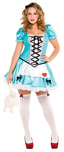 Amscan Wonderful Alice Womens Plus Costume (18-20) - Classic Alice In Wonderland Costume Ideas