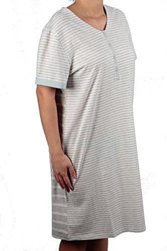Triumph - Chemise de nuit - À Rayures - Femme gris gris