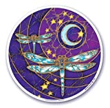Mandala Arts Dragonfly Moon Decal Sticker