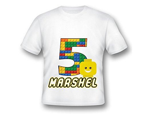 Custom Birthday Building Block Head Emoji Birthday T-Shirt, Emoji Tee Shirt, Printed Emoji Shirt, White Emoji TShirt, Birthday Shirt, Emoji Custom Shirt, Custom Shirt - Building Tee