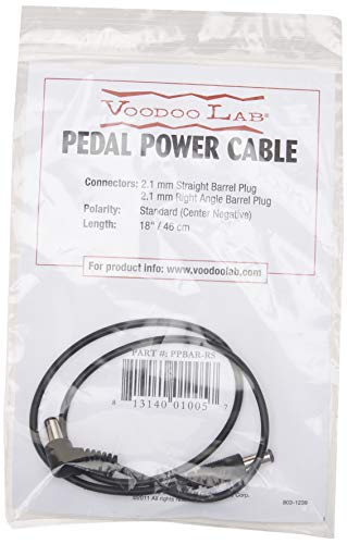 Voodoo Lab 2.1mm Straight to Right Angle Barrel Cable - 18""