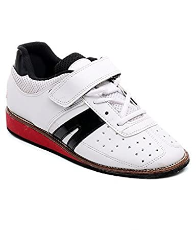 17d5ec72e041 Buy RXN Weight Lifting Shoe Size UK 9 (White Red Black) Online at Low  Prices in India - Amazon.in