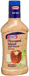 Kraft Thousand Island Dressing with Bacon 16 Oz (Pack of 3)