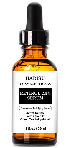 Harisu Cosmeceuticalss Retinol Serum 2.5% for Face, Professional Anti-Aging Topical Facial Serum, Anti-Wrinkle & Reduce Fine Lines- Best anti Wrinkle/Aging Serum for Face and Sensitive Skin
