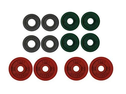 Ader Precision Color Metal Olympic Kilo Gram Plates (5 Pr Color 15KG)