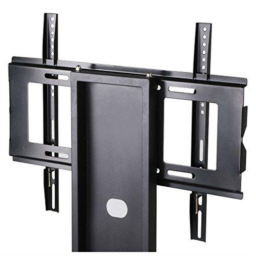 60' Black Tv Console - Tempered Glass Black TV Stand Console Media 37