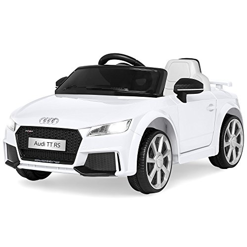 Best Choice Products 6V Kids Licensed Audi TT RS Ride-On Car w/ Parent Control, 2 Speeds, Suspension, AUX Input - White