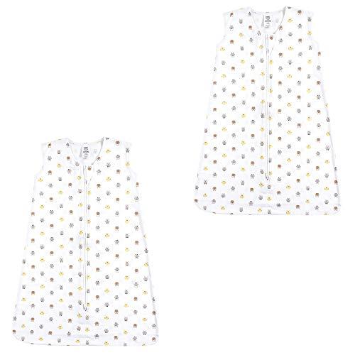 Luvable Friends Unisex Baby Safe Wearable Sleeping Bag/Sack/Blanket, Owls Jersey 2-Pack, 0-6 Months