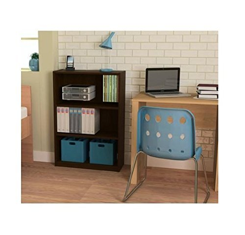 Ameriwood 3-shelf Bookcase, Multiple Finishes. Ideal for Dorm Room, Home Office, Living Room or Any Room. (Espresso) (espresso)