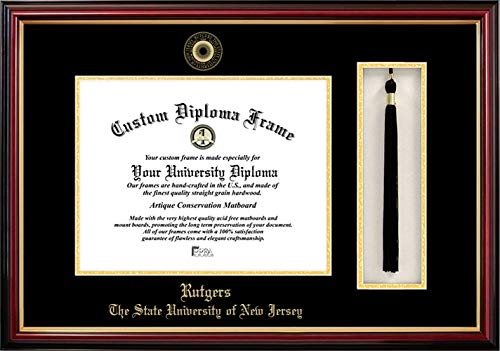 Campus Images NCAA Rutgers Scarlet Knights Tassel Box and Diploma Frame (Lacquer Diploma Frame)