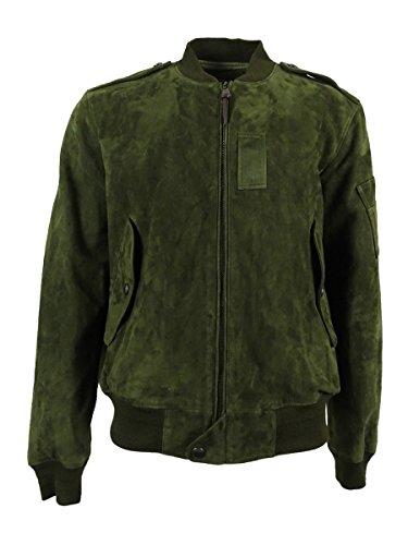 Polo Ralph Lauren Men's Suede Bomber Jacket (S, (Ralph Lauren Suede Leather)