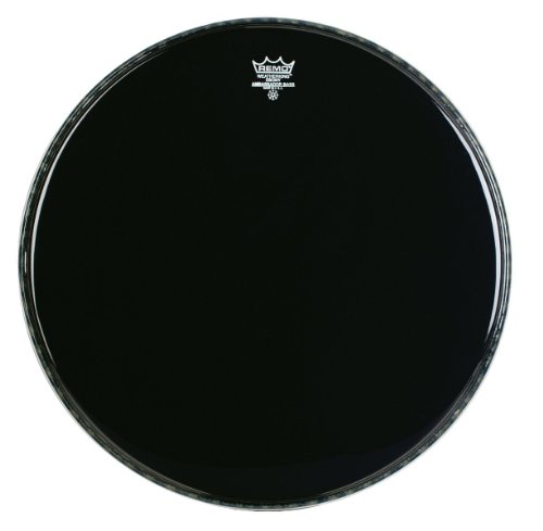 - Remo ES1022-00 22-Inch Ebony Ambassador Bass Drum Head