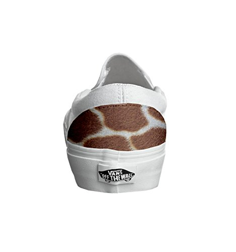 Vans Original, PRODUIT ARTISANAL, Sneakers Basses mixte adulte Multicolor Giraffe - TG45
