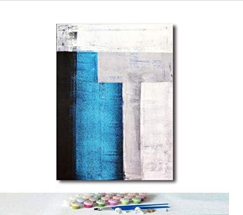 YuHan Wei Pintar por Número Arte Arte Abstracto Patrón Sala Decoración Pintura Adulto Dibujado A Mano Descompresión