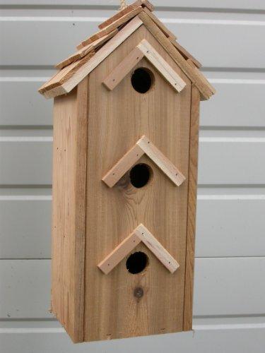 Cedarnest Cedar Birdhouse with 3 Seperate Compartments