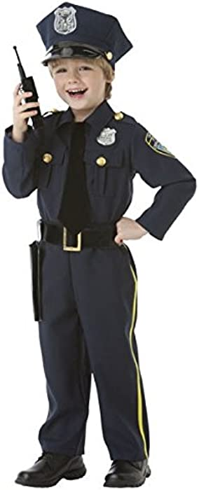 Amazon Com Amscan Classic Police Officer Halloween Costume For Boys