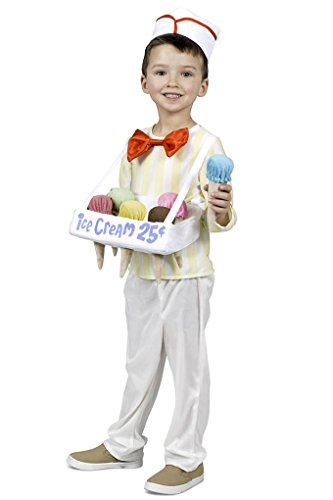 Cone Ice Costume Cream (Toddler - Child Ice Cream Cone Salesman Costume - XS/Small Size)