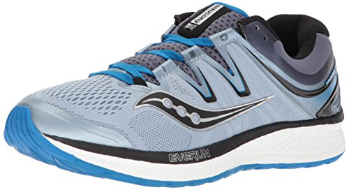 Saucony Men's Hurricane ISO 4 Running Shoe, Grey/Blue, 12.5 Wide US (Best Saucony Running Shoes For Neutral Runners)