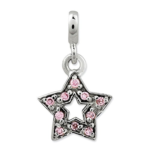 ICE CARATS 925 Sterling Silver Pink Cubic Zirconia Cz Star Enhancer Necklace Pendant Charm Celestial Fine Jewelry Ideal Gifts For Women Gift Set From Heart by ICE CARATS