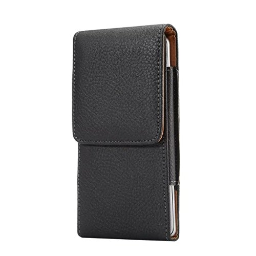 Vertical Travel PU Leather Men Carrying Belt Clip Holster Case Pouch for iPhone Xs/Samsung Galaxy Sol 3 / J3V(2018) / Amp Prime 3 / J3 / J3 Star / J3 Orbit/Google Pixel 3 / Google Pixel 2 (Black)
