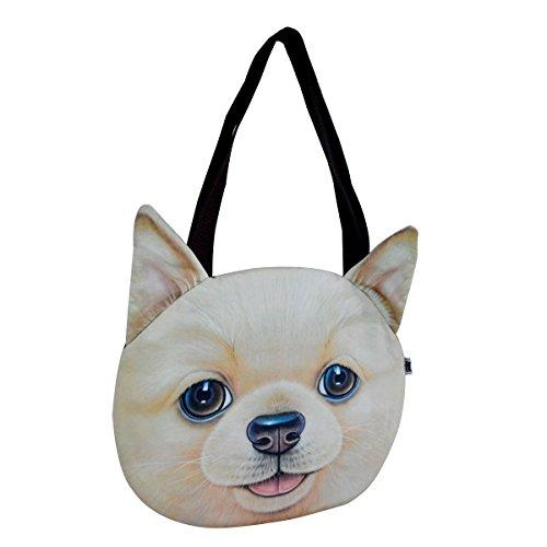 Retriever Tote Bag (LABANCA Women's Casual Cartoon Animal Printing Shopping Tote Shoulder Bag Golden Retriever)