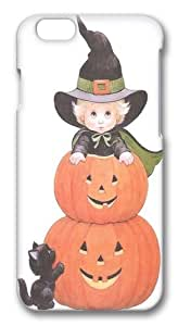 Halloween Witch And Black Cat Custom iphone 6 plus 5.5 inch Case Cover Polycarbonate 3D