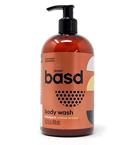 (Basd | Organic Moisturizing Body Wash | Indulgent Crème Brulee | Natural Skin Care | Aloe Vera | Green Tea | 15.2 oz Bottle )