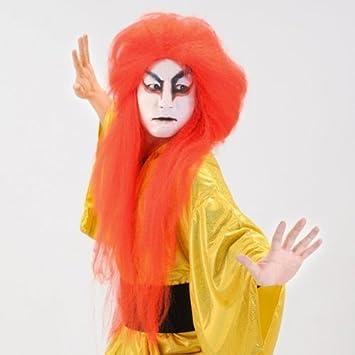 peluca KABUKI rojo teatro Kabuki peluca de la peluca de Cosplay del traje del traje]
