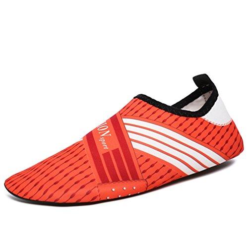 Las Mujeres Zapatos Yoga Corta Playa Calcetines Zapatos de Verano Agua Naranja