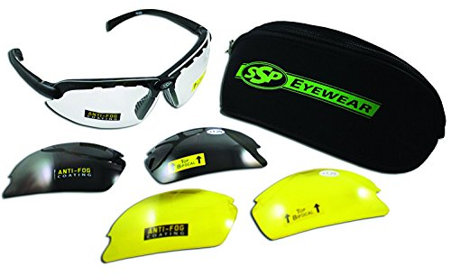 SSP Eyewear Top Focal Tactical Safety Glasses Kit with Assorted Interchangeable 1.75 Bifocal Lenses, TF 1.75 AST KIT