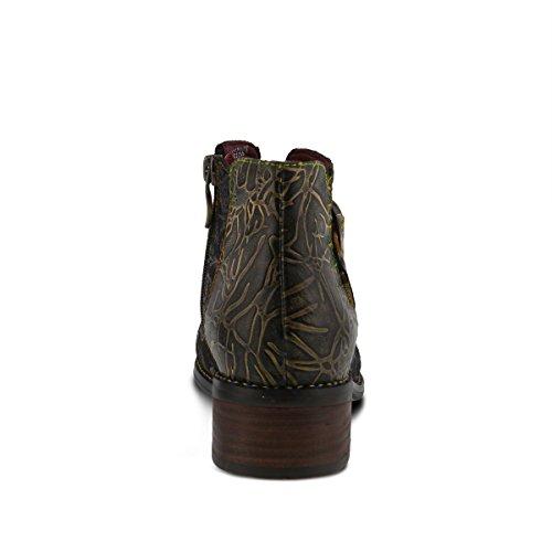 Women's Leather L`Artiste Georgiana Booties by Black Step Multi Spring xtw1OZwqT