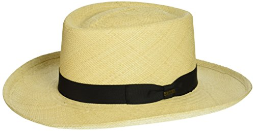 Panama Gambler Hat - SCALA Men's Panama Gambler Hat, Natural, X-Large