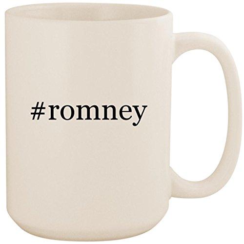 (#romney - White Hashtag 15oz Ceramic Coffee Mug Cup )