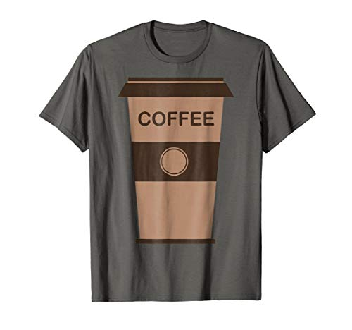 (Mens Coffee Cup Costume Shirt Roasted Beans Brewed Drink Beverage XL)