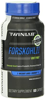 TWINLAB Diet Fuel Forskohlii Weight Loss Tablets, 60 Count