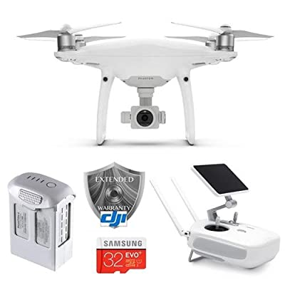 "DJI Phantom 4 Pro+ Quadcopter Drone with 5.5"" FHD Screen Remote Controller - Bundle With 32GB MicroSDHC Card, Spare Flight Battery, DJI 1 Year Care Refresh"