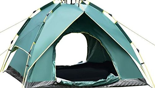 K&A Company Waterproof Hydraulic Automatic Camping Tent 80'' x 80'' x 55'' 2-3 Person New Outdoor Green